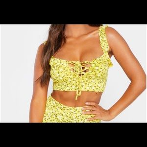 PrettyLittleThing Tops - PLT Floral Crop Top